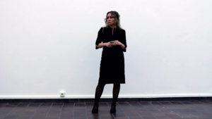 """Znaczenia"", performance Angelika Fojtuch, 32 min., 9Live Action Festival, Göteborgs Konsthall, Gothenburg 2014, fot. Shannon Cochrane"